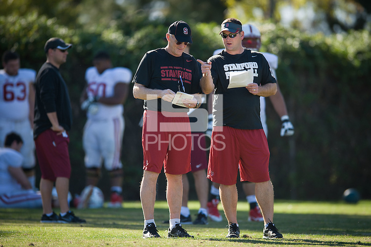 CARSON, CA  - The Stanford Cardinal holds practice at the Stubhub Center as it prepares for the 100th Rose Bowl Game in Pasadena.