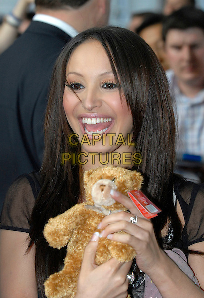 AMELLE BERRABAH - SUGABABES.Glamour magazine's 3rd Annual Woman of the Year Awards.Berkeley Square Gardens - Arrivals.6th June 2006 London, England.Ref: FIN.headshot portrait stuffed animal toy.www.capitalpictures.com.sales@capitalpictures.com.© Capital Pictures.