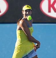 Ana Ivanovic..Tennis - Australian Open - Grand Slam -  Melbourne Park  2013 -  Melbourne - Australia - Wednesday 16th January  2013. .© AMN Images, 30, Cleveland Street, London, W1T 4JD.Tel - +44 20 7907 6387.mfrey@advantagemedianet.com.www.amnimages.photoshelter.com.www.advantagemedianet.com.www.tennishead.net