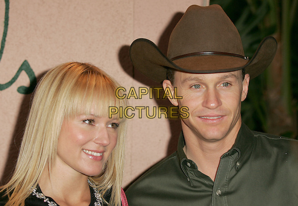 JEWEL & TY MURRAY.The 1st Annual Crest White Strips Style Awards held at The Beverly Hills Hotel in Beverly Hills, California .June 16,2004.headshot, portrait, fringe, stetson, cowboy hat.www.capitalpictures.com.sales@capitalpictures.com.©Capital Pictures