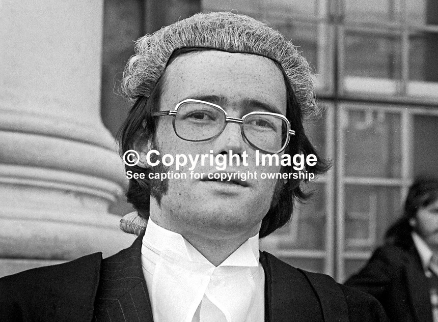 Dermot Fee, newly-appointed barrister, High Court, Belfast, N Ireland, 197505110249DF<br />