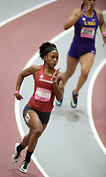 NWA Democrat-Gazette/ANDY SHUPE<br /> Arkansas' Janeek Brown competes Saturday, Feb. 9, 2019, in the 200 meters during the Tyson Invitational in the Randal Tyson Track Center in Fayetteville. Visit nwadg.com/photos to see more photographs from the meet.