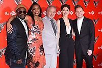 Will.I.Am, Jennifer Hudson, Sir Tom Jones, Emma Willis &amp; Olly Murs at the photocall for The Voice UK 2018 launch at Ham Yard Hotel, London, UK. <br /> 03 January  2018<br /> Picture: Steve Vas/Featureflash/SilverHub 0208 004 5359 sales@silverhubmedia.com