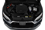 Car Stock 2020 Audi A5-Cabriolet Premium 2 Door Convertible Engine  high angle detail view