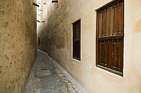 United Arab Emirates, Dubai, Alleyway in historic Bastakiya Quarter