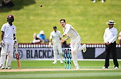 4th December 2017, Basin Reserve, Wellington, New Zealand; International Test Cricket, Day 4, New Zealand versus West Indies;  Mitchell Santner bowling