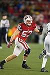 Wisconsin Badgers linebacker Mike Taylor (53) plays defense during an NCAA Big Ten Conference college football game against the Penn State Nittany Lions on November 26, 2011 in Madison, Wisconsin. The Badgers won 45-7. (Photo by David Stluka)