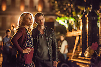 "Leah Pipes as Camille and Joseph Morgan as Klaus in the The Vampire Diaries spinoff ""The Originals"""