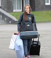 20170725 - TILBURG , NETHERLANDS :  Belgian Diede Lemey pictured going back to Belgium as the Belgian national women's soccer team Red Flames was not able to qualify for the quarter finals after a loss against The Netherlands , on Tuesday 25 July 2017 in Tilburg . The Red Flames finished on 3 th place in Group A at the Women's European Championship 2017 in the Netherlands. PHOTO SPORTPIX.BE | DAVID CATRY