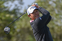 Danny Lee (NZL) watches his tee shot on 15 during Round 1 of the Valero Texas Open, AT&amp;T Oaks Course, TPC San Antonio, San Antonio, Texas, USA. 4/19/2018.<br /> Picture: Golffile | Ken Murray<br /> <br /> <br /> All photo usage must carry mandatory copyright credit (&copy; Golffile | Ken Murray)