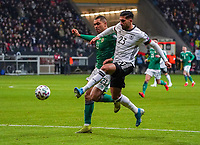 Emre Can (Deutschland Germany) gegen Josh Magennis (Nordirland, Northern Ireland) - 19.11.2019: Deutschland vs. Nordirland, Commerzbank Arena Frankfurt, EM-Qualifikation DISCLAIMER: DFB regulations prohibit any use of photographs as image sequences and/or quasi-video.