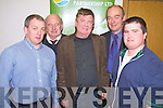 Gerard O'Leary, Beaufiort, winner of the Farmbiz 2010 competition pictured at the award ceremony in Killorglin on Friday night with Joseph McCrohan, John Pierse, Flor McCarthy and Patsy Tim O'Sullivan. ....