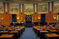 State House, State Capitol, Boston, Massachusetts, MA, House of Representatives inside the State House in the capital city of Boston.