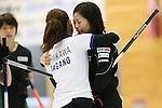 (L to R) Miyo Ichikawa (Chuden), Ayumi Ogasawara (Fortius), SEPTEMBER 17, 2013 - Curling : Olympic qualifying Japan Curling Championships Women's Final forth Mach between Fortius 8-5 Chuden at Dogin Curling Studium, Sapporo, Hokkaido, Japan. (Photo by Yusuke Nakanishi/AFLO SPORT)