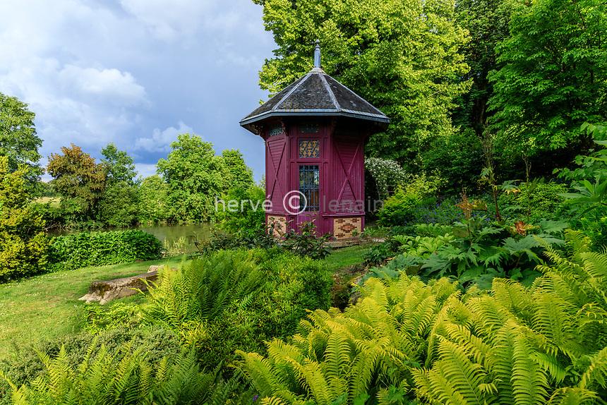 France, Sarthe (72), Le Lude, château et jardins du Lude, jardin de la Source et pavillon