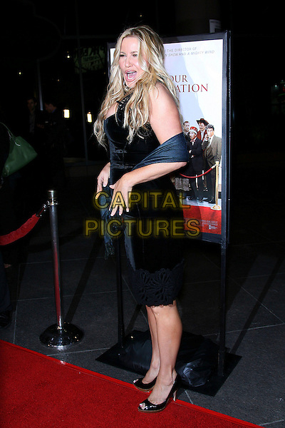 "JENNIFER COOLIDGE.""For Your Consideration"" Los Angeles Premiere - Arrivals held at the Director's Guild, Hollywood, California , USA,13 November 2006..full length black dress cleavage wrap mouth open funny.Ref: ADM/ZL.www.capitalpictures.com.sales@capitalpictures.com.©Zach Lipp/AdMedia/Capital Pictures."