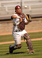 Boston College C Tony Sanchez at Shea Field April 17, 2009 in Chestnut Hill, MA (Photo by Ken Babbitt/Four Seam Images)
