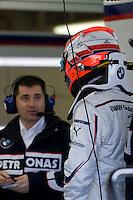 Robert Kubica BMW Sauber F1 TEST with Robert Kubika as driver. Circuito Ricardo Tormo de la Comunitat Valenciana, Cheste, Valencia, Spain