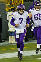 Minnesota Vikings quarterback Case Keenum (7)  during a National Football League game against the Green Bay Packers on December 23rd, 2017 at Lambeau Field in Green Bay, Wisconsin. Minnesota defeated Green Bay 16-0. (Brad Krause/Krause Sports Photography)
