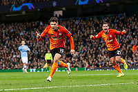 Manor Solomon of Shakhtar Donetsk celebrates after scoring his side's first goal to equalise and make the score 1-1 during the UEFA Champions League Group C match between Manchester City and Shakhtar Donetsk at the Etihad Stadium on November 26th 2019 in Manchester, England. (Photo by Daniel Chesterton/phcimages.com)