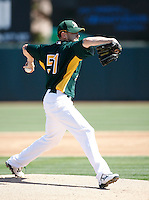 Dallas Braden - Oakland Athletics - 2009 spring training.Photo by:  Bill Mitchell/Four Seam Images
