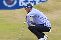 Nicolas Colsaerts (BEL) on the 7th green during Saturday's Round 3 of the 2018 Dubai Duty Free Irish Open, held at Ballyliffin Golf Club, Ireland. 7th July 2018.<br /> Picture: Eoin Clarke | Golffile<br /> <br /> <br /> All photos usage must carry mandatory copyright credit (&copy; Golffile | Eoin Clarke)