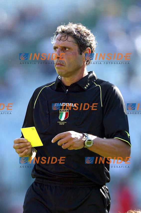 Roma 21/9/2003<br /> Lazio Parma 2-3<br /> L'arbitro Bolognino<br /> Foto Insidefoto