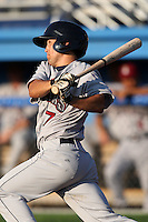 Mahoning Valley Scrappers second baseman Dan DeGeorge (7) during a game vs. the Batavia Muckdogs at Dwyer Stadium in Batavia, New York June 28, 2010.   Batavia defeated Mahoning Valley 11-3.  Photo By Mike Janes/Four Seam Images