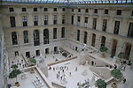 Interior gallery in the Louvre Museum in Paris, France.