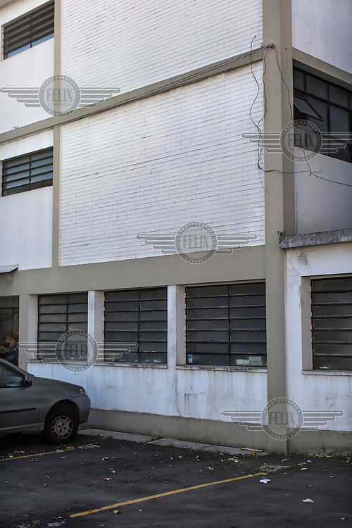 The exterior of the former Department of Information Operations (Centre for Internal Defence Operations) on Rua Tutoia in the Paraiso neighbourhood. During the years of military rule (1 April, 1964 to 15 March, 1985) this was the Brazilian intelligence and repression agency where citizens were taken in for questioning, an act that often resulted in torture. It is currently the 36th Civil Police Precinct.