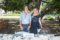 Galen Maclennan, LA Zoo and LA Zoo staffer Peggy Wu<br /> 2018 InternLA student participants share their poster presentations about their summer experiences working as interns in Los Angeles. Summer Experience Expo, Sept. 13, 2018 in the Academic Quad. Hosted by Career Services.<br /> (Photo by Marc Campos, Occidental College Photographer)