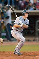 Matt Wallach #22 of the Great Lakes Loons follows through on his swing versus the Dayton Dragons at Fifth Third Field April 22, 2009 in Dayton, Ohio. (Photo by Brian Westerholt / Four Seam Images)