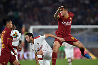 Chris Smalling of AS Roma , Hakan Calhanoglu of AC Milan , Gianluca Mancini of AS Roma <br /> Roma 27-10-2019 Stadio Olimpico <br /> Football Serie A 2019/2020 <br /> AS Roma - AC Milan<br /> Foto Andrea Staccioli / Insidefoto
