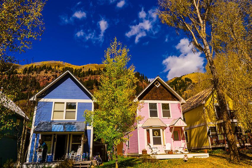 Main Street (West Colorado Avenue), Telluride, Colorado USA.