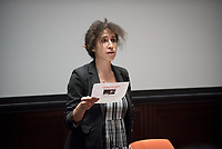 The first speaker for the Oxy Arts Speaker Series, Will Power, an award winning playwright, performer and educator, who is considered a pioneer in the hip hop theatre movement. Professor Laural Meade moderates, Choi Auditorium, September 25, 2017.<br /> The Oxy Arts Speaker Series brings five multidisciplinary LA-based artists to Occidental College to engage our community in conversation about their art, their inspirations, and why they do what they do in Los Angeles today.<br /> (Photo by Marc Campos, Occidental College Photographer)