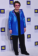 Washington, DC - October 28, 2017: Former tennis star Billie jean King poses on the carpet at the Human Rights Campaign's National Dinner held at the Washington Convention Center October 28, 2017.  (Photo by Don Baxter/Media Images International)