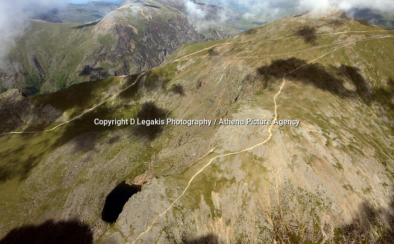 Snowdonia mountain<br /> Re: Aerial view of Wales. Sunday 14 June 2009<br /> Picture by D Legakis Photography / Athena Picture Agency, 24 Belgrave Court, Swansea, SA1 4PY, 07815441513
