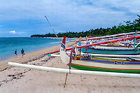 Bali, Denpasar, Sanur. Sanurs beach is long and lazy, you can swim, relax or rent a boat for sightseeing.