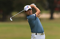 Minkyu Kim (KOR) on the 11th fairway during Round 2 of the Australian PGA Championship at  RACV Royal Pines Resort, Gold Coast, Queensland, Australia. 20/12/2019.<br /> Picture Thos Caffrey / Golffile.ie<br /> <br /> All photo usage must carry mandatory copyright credit (© Golffile | Thos Caffrey)