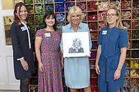 Camilla Duchess of Cornwall Visits The Royal School of Needlework