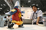 July 30, 2010 - Tokyo, Japan - Toshinaga-kun robot dances and gestures during Robotech at Tokyo Big Sight, Japan, on July 30, 2010. The exhibition on the service robot fabrication techniques promotes technology exchange and cooperation.