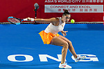 Sara Sorribes Tormo of Spain in action during the Prudential Hong Kong Tennis Open 2018 match between Garbiñe Muguruza and Sara Sorribes of Spain at Victoria Park on October 09 2018 in Hong Kong, Hong Kong. Photo by Marcio Rodrigo Machado / Power Sport Images