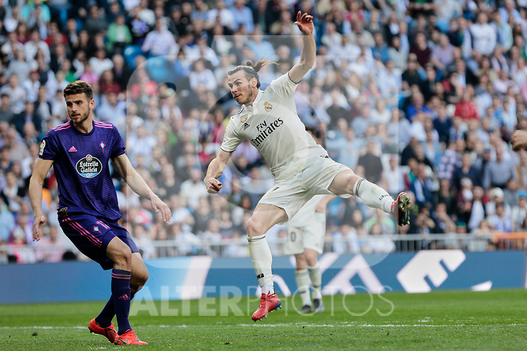 Real Madrid's Gareth Bale during La Liga match between Real Madrid and Real Club Celta de Vigo at Santiago Bernabeu Stadium in Madrid, Spain. March 16, 2019. (ALTERPHOTOS/A. Perez Meca)