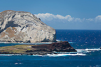 Manana Island (Rabbitt Island) and Kaohikaipu (Black Rock or Bird Island) on the Windward side of O'ahu.