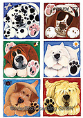 Kate, CUTE ANIMALS, LUSTIGE TIERE, ANIMALITOS DIVERTIDOS, paintings+++++Cats & dogs page 13,GBKM67,#ac#, EVERYDAY ,dogs,dog ,puzzle,puzzles