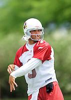 May 20, 2009; Tempe, AZ, USA; Arizona Cardinals quarterback Tyler Palko during organized team activities at the Cardinals practice facility. Mandatory Credit: Mark J. Rebilas-
