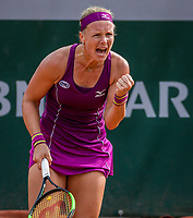 Paris, France, 29 May, 2018, Tennis, French Open, Roland Garros, Kiki Bertens (NED) shows emotion<br /> Photo: Henk Koster/tennisimages.com