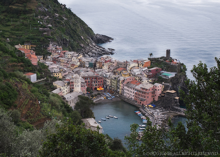 The middle village in the Cinque Terre.