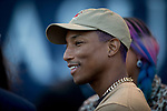 HALLANDALE BEACH, FL - JANUARY 27: Pharrell Williams at The Pegasus World Cup Invitational at Gulfstream Park Race Track on January 27, 2018 in Hallandale Beach, Florida. (Photo by Alex Evers/Eclipse Sportswire/Getty Images)