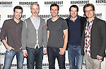Jacob Fishel, Tim McGeever, Josh Cooke, Kieran Campion and Lucas Near-Verbrugghe.attending the Meet & Greet for the Roundabout Theatre Company's Off-Broadway Production of 'The Common Pursuit' at their Rehearsal Studios in New York on 4/6/2012.